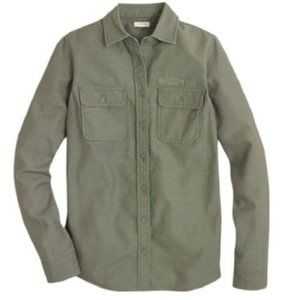 J. Crew Army Green Military Style Shirt M